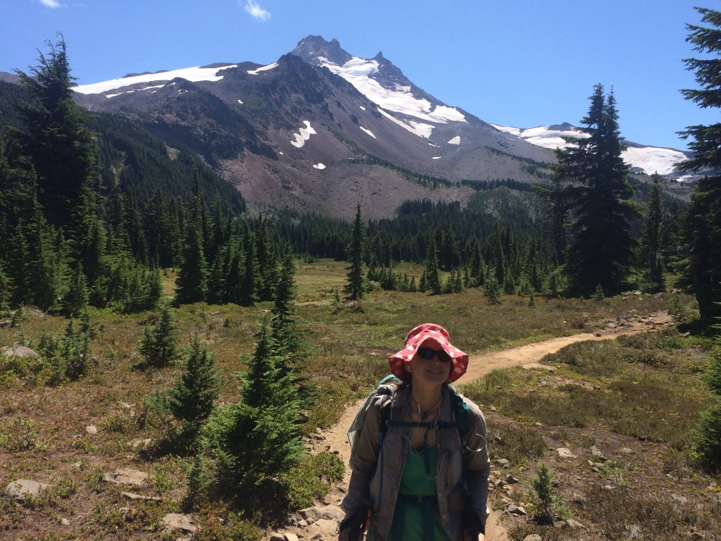 Alpine meadows, the mountain and me.