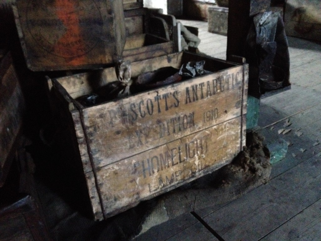This supply box was from Scott's expedition from 1910.