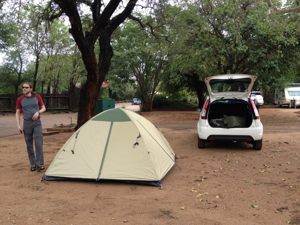 Our tent at Crocodile Bridge Camp.