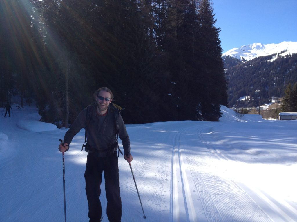 Richard cross country skiing in Davos.