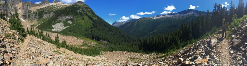 Just north of Suiattle Pass above the South Fork Agnes Creek.