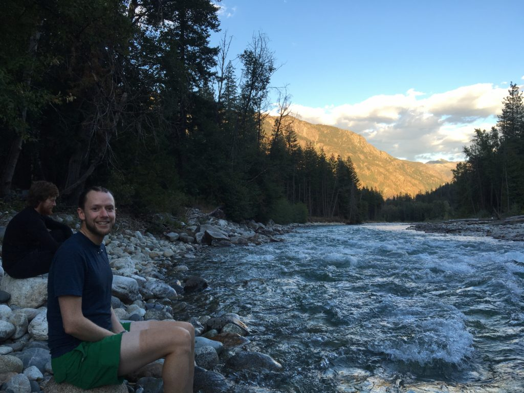 Richard along the Stehekin River.