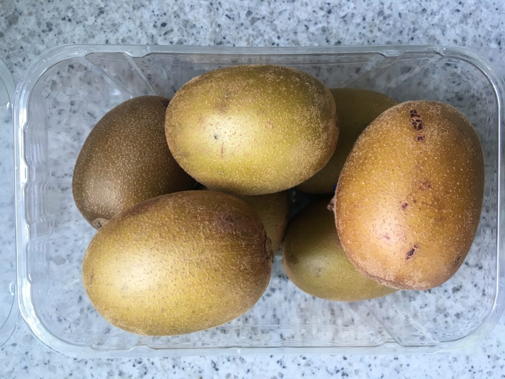 A day's worth of golden kiwis.